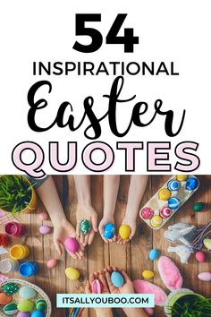 Happy Easter! Click here for 54 inspirational Happy Easter quotes and wishes, including non-religious and Christian quotes that are cute and funny. They're perfect for kids, to share with family on Easter Sunday or on Good Friday. Have faith, have hope this Easter. #EasterIdeas #InspiringQuotes #SpringQuotes #EasterSayings #EasterCaptions #EasterQuote #Springtime Easter Activities, Easter Crafts For Kids, Easter Gift, Easter Ideas, Happy Easter Quotes, Create Your Own Quotes, Spring Quotes, Graphic Quotes, Religious Quotes