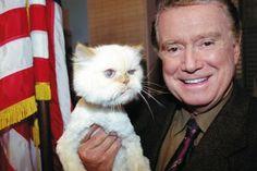 Regis and his rescue cat....