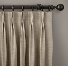 2 fold French Pleat curtains