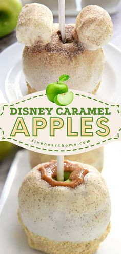 Don't let fall pass you by without learning how to make Disney Caramel Apples! Coated with white chocolate and sprinkled with cinnamon sugar, this sweet treat tastes like apple pie. Save this super easy caramel apple idea! Apple Recipes, Fall Recipes, Copycat Recipes, Caramel Apples, White Chocolate, Apple Pie, Cravings, Sweet Treats, Easy Meals