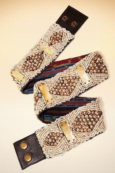 Boston Proper Seed bead patterned belt #bostonproper
