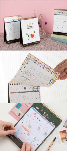 Love all things cute? Let your heart be won over by the 2017 Toffee Nut Calendar. It's a standing desk calendar that covers 14 months through December 2017. The yearly calendar opposite each 2017 month makes planning ahead super easy! Each month also features uniquely gorgeous patterns and illustrations that fit the season. This calendar is beautifully designed with bright colors, characters, and high-quality paper & materials. Check it out and plan away!