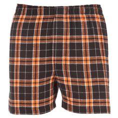 Orange & Black Plaid Boxers http://www.schoolspiritstore.com/spirit-wear/plaid/