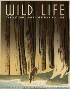 Another WPA poster celebrating wildlife and natural beauty.