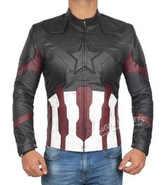 Captain America Infinity War Jacket | FREE Shipping | Discounted Price |  Shop Now. #