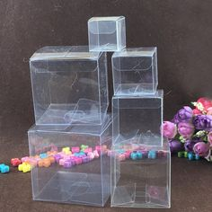 Find More Jewelry Packaging & Display Information about 50pcs Square Plastic Box Storage PVC Box Clear Transparent Boxes For Gift Boxes Wedding/Tool/Food/Jewelry Packaging Display DIY,High Quality Jewelry Packaging & Display from Ruihao gifts packaging bag box Store on Aliexpress.com Pvc Storage, Plastic Box Storage, Storage Boxes, Jewelry Display Box, Display Boxes, Gift Box Packaging, Jewelry Packaging, Transparent Box, Wedding Gift Boxes