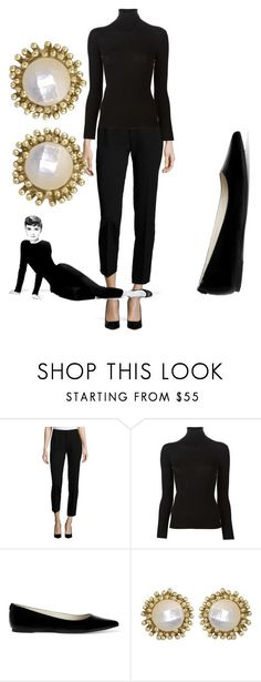 """""""Modern Day - Audrey Hepburn"""" by mackinmod ❤️ liked on Polyvore featuring Foundrae, Ermanno Scervino, MICHAEL Michael Kors, Kendra Scott, modern, women's clothing, women's fashion, women, female and woman"""