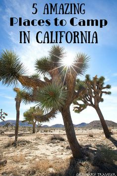 Camping in California - Five Amazing Places to Camp in California