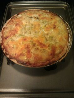My first time making quiche - NAILED it. And every other quiche I made after this was actually a lot messier...