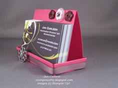 I wanted something different to display my Business Cards. What better way than to make one!     Just another view.  I had seen this on SC...