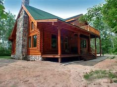 Canoe Cabin Front Elevation -- Natural Element Homes