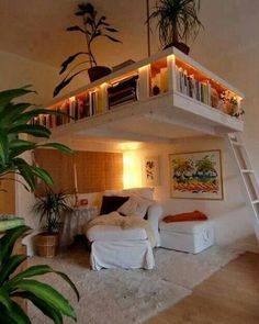 Are you a loft lover like we are? This setup is so clever