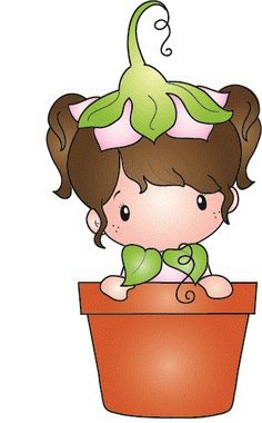 """C.C. Designs Swiss Pixie """"""""Potted Lucy"""""""" Rubber Stamp"""
