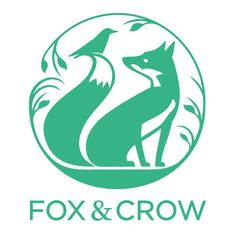 Fox & Crow - Logo | Beautiful candles inspired by the scent of the garden and the comfort of home. All lovingly hand poured in The British Isles.