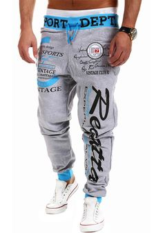 Gender: Men Fit Type: Loose Waist Type: Low Fabric Type: Fleece Length: Full Length Closure Type: Elastic Waist Decoration: Pattern Style: Casual Material: Cotton, Polyester Model Number: 917-8753 siz