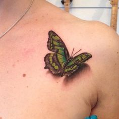 31 realistic tattoos! Love this butterfly one