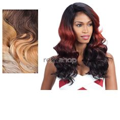 Equal (SNG) Lace Deep Invisible L Part Orange Blossom  - Color SPLEMON - Synthetic (Curling Iron Safe) Invisible L-Part Lace Front Wig - Closed Invisible L-Part