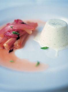 pannacotta with roasted rhubarb | Jamie Oliver | Food | Jamie Oliver (UK)