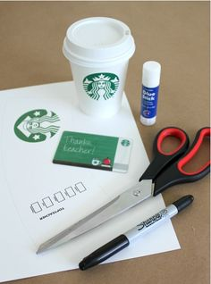 Free printable to make a Starbucks gift card even more special for a teacher. Love this so much! Via Alpha Mom (TM)