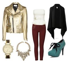 """""""G.N.O. Burgandy-gold"""" by cristinabcn92 ❤ liked on Polyvore featuring Joseph, French Connection, Erickson Beamon, MICHAEL Michael Kors and Yves Saint Laurent"""