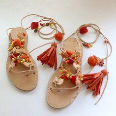 SUR la vente beaucoup de couleurs Sandales par EATHINI sur Etsy