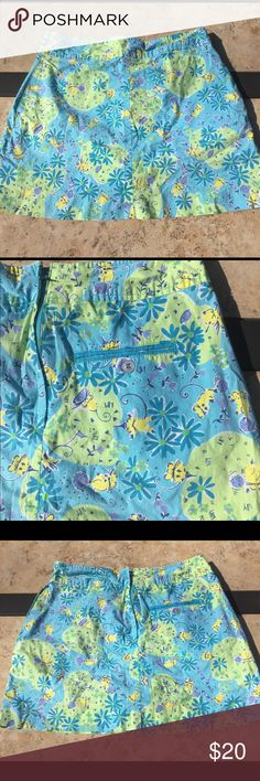 Lily Pulitzer skort size 0P Blue and green lily Pulitzer skort size 0P preowned lily pulitzer Skirts Mini