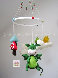 ♥ ♥ ♥ New Mobile Sweetfelt, with Johnny, the cute dragon ... by sweetfelt \ ideas in felt
