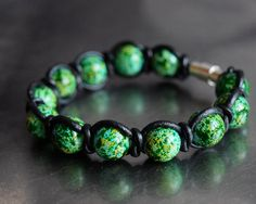 SALE from 15 USD to 10 USD - Green, yellow and blue stained pearls - black leather wrap bracelet Blue Stain, Turquoise Bracelet, My Etsy Shop, Black Leather, Pearls, Yellow, Trending Outfits, Unique Jewelry, Bracelets