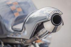 Wena Customs Twister custom motorcycle rear view
