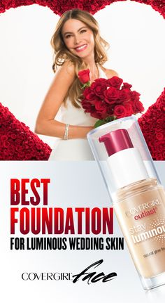Get Sofia's Outlasting Luminous Skin for your wedding day! Follow these quick and easy steps to achieve dewy, luminous skin that lasts through fall and winter with Outlast Stay Luminous Foundation. Step 1: Apply Outlast Stay Luminous foundation by dotting on forehead, cheek and chin. Step 2: Using fingers or makeup sponge to blend evenly into skin.
