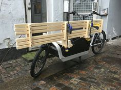 Fresh woodwork form my Copenhagen wood shop ready for deliverence... #bullitt #cargobike