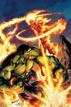 INCREDIBLE HULK & THE HUMAN TORCH: FROM THE MARVEL VAULT #1 - Cover by MARK BAGLEY