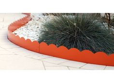 Bordure de jardin en acier orange ondulée - Jardin et Saisons