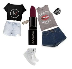 """""""Untitled #23"""" by hm1491460 on Polyvore featuring Topshop, Billabong, Zara, Moschino, Smashbox, Aéropostale, women's clothing, women, female and woman"""