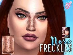 The Sims Resource: Nose Freckles by Senpai Simmer • Sims 4 Downloads
