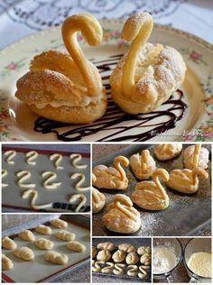 Foood Style: Yummy cream puff swans