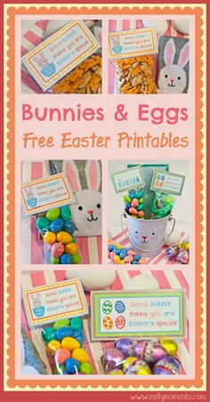 Diy printable easter treat bags treat bags bags and bag toppers free easter printables download these treat bag toppers and create the perfect addition to a negle Image collections