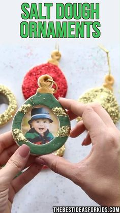 These salt dough ornaments make such a nice Christmas gift! Kids will love helping to make these. Make sure to see the post for how to seal them so they will last many years! This is one of our favorite Christmas crafts!   #bestideasforkids
