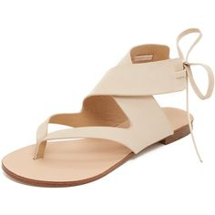 Splendid Camdyn Sandals (1 595 ZAR) ❤ liked on Polyvore featuring shoes, sandals, natural, real leather shoes, tie shoes, slim shoes, genuine leather shoes and leather sandals