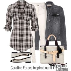 Caroline Forbes inspired outfit/TVD by tvdsarahmichele on Polyvore featuring Calvin Klein Jeans, rag & bone/JEAN, Chanel and Reed Krakoff