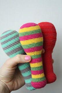 ༺༺༺♥Elles♥Heart♥Loves♥༺༺༺ ........♥Crochet Amigurumi♥........ #Amigurumi #Patterns #Crochet #Softies #Childrens #Toys #Handmade #Teddy #Doll #Tutorial #Patterns #Collectable~ ♥Creations by Laura Of Tiny Amigurumi Maracca Rattle