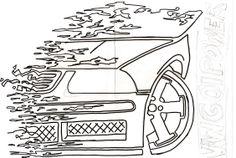 diseño de calco para VW GOL                                                                                                                                                                                 Más