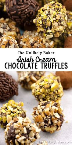No bake, boozy and chocolatey - these Irish cream chocolate truffles are the perfect treat on St. Patrick's Day or any day!