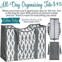 All-Day Organizing Tote by Thirty-One. Fall/Winter 2016. Click to order. Join my…