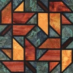 Quilt Patterns Free Quilt Patterns eQuiltPatterns.com: Stained Glass Maple Leaf Quilt Block