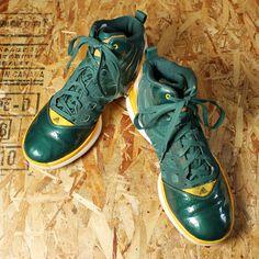 adidas adizero Shadow/USED/グリーン×イエロー/バスケットボールシューズ・スニーカー/26.5cm