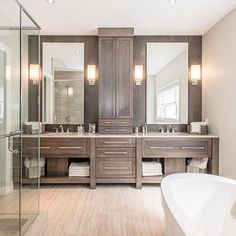 Wouldn't it be nice to start every morning in a spa-inspired master #bathroom? Hawksview Homes
