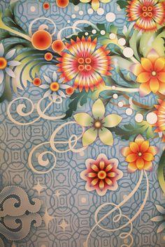 Design Weekend: papéis de parede cheios de cor na Wallpaper - Casa
