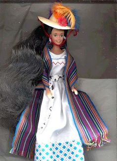 MEXICO – Barbie Dolls From Mexico in Hand-Made Clothes ~~~ CUSTOM SENORITA