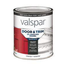 Valspar Door and Trim Spanish Tile Semi-Gloss Oil-Based Enamel Interior/Exterior Paint (Actual Net Contents: oz) Interior Trim, Interior Exterior, Exterior Paint, Interior Walls, Interior Shop, Exterior Colors, Interior Ideas, Primitive Homes, Primitive Kitchen
